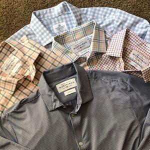 Mizzen + Main • dress shirt lot of 5